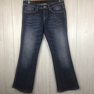Buffalo David Bitten flare leg distressed jeans